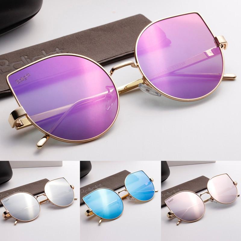 Kacamata Pelindung Matahari dengan Model Cermin dan Bahan Logam Bergaya  Vintage  836fb99ff8