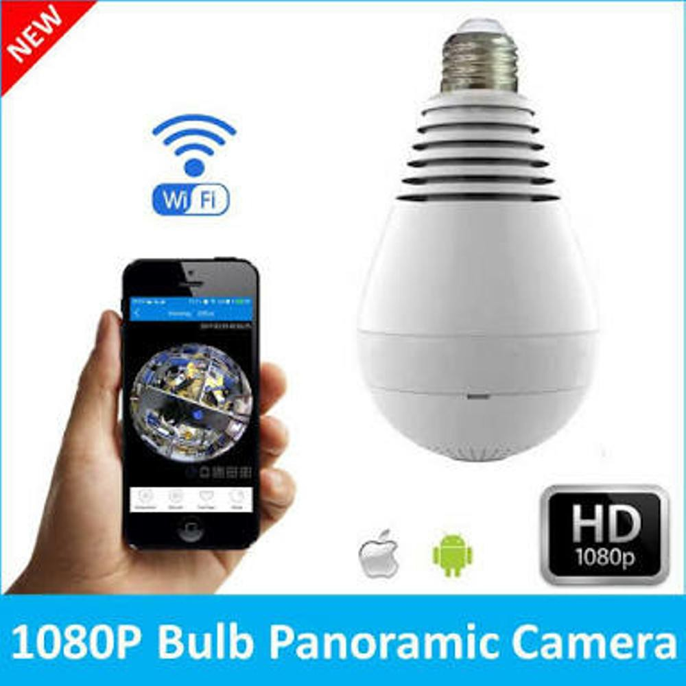 Kamera Cctv Bentuk Bohlam Panorama V 380 Spy Camera Hidden Hd 1080p Ip Wifi Led Bulb Real Light Lamp Wireless Ir Nightvision Pengintai Berbentuk V380 Shopee Indonesia