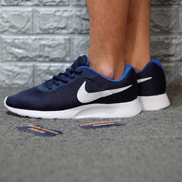 Nike Tanjun Navi White Blue Original 100%