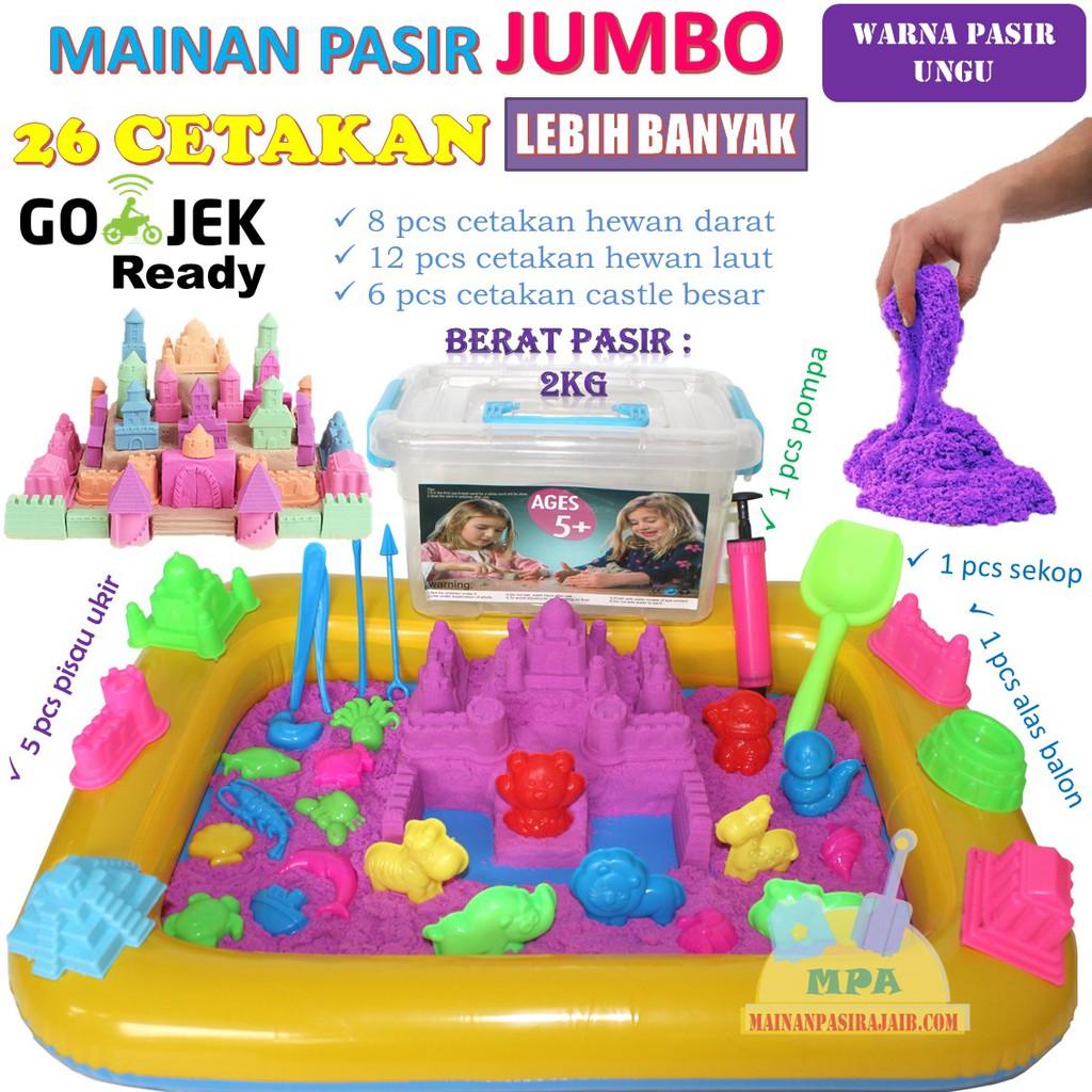 Mainan Pasir Ajaib Anak Anak Play Sand 2 Kg dengan Rumah Hello Kitty dan Pretty Set   Shopee Indonesia