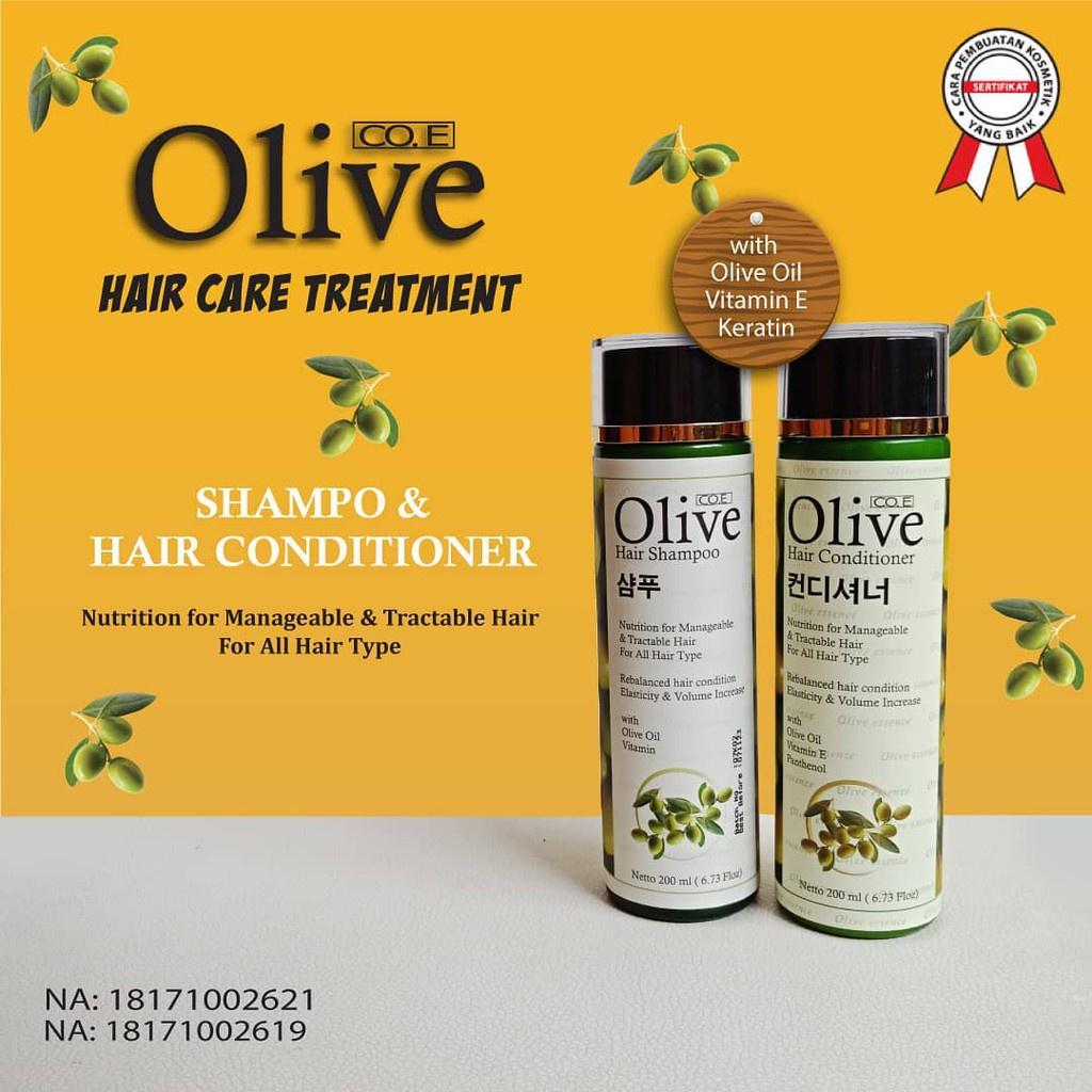 SYB CO.E Olive Hair Treatment - Shampoo Conditioner Tonic Black Kemiri Oil Mask Serum Kids-1