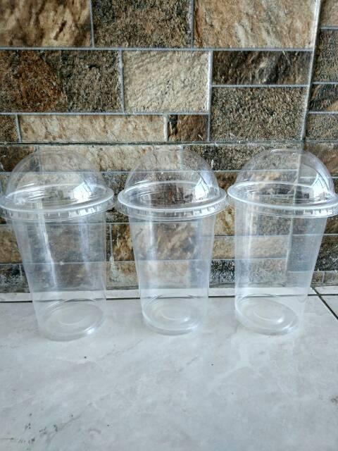 Gelas Plastik PP 16oz / 18oz Plastic Cup PP 16 oz / 18 oz PLUS TUTUP ...