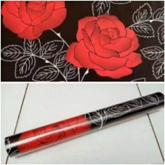Grosir Walpeper Stiker 3d Motif Bunga Mawar Warna Hitam Putih