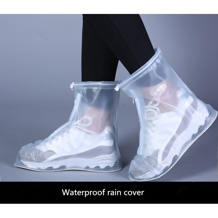 Waterproof Reusable Ankle Rain Boots Slip Resistant Cover Flat Overshoes Shoes