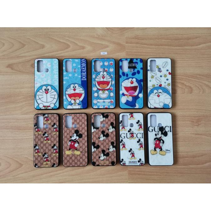 Fuze Glass Case 3D Doraemon & Mickey Vivo Y30 / Vivo Y30I Grb-979
