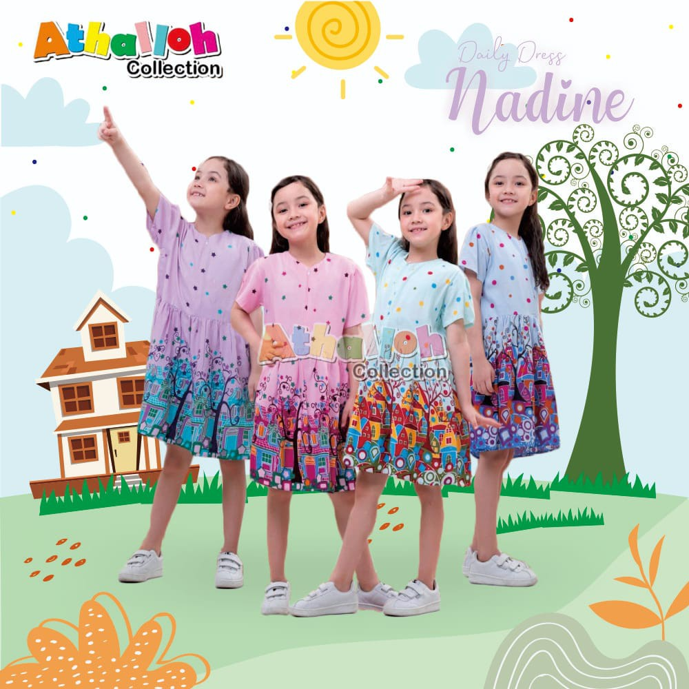 Dress Anak Nadine by Athalloh Collection