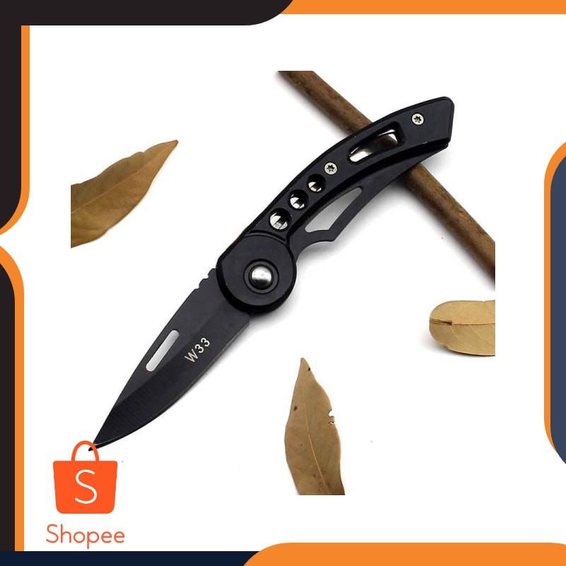KNIFEZER Pisau Saku Lipat Mini Serbaguna Portable Knife Survival - W33 Keren