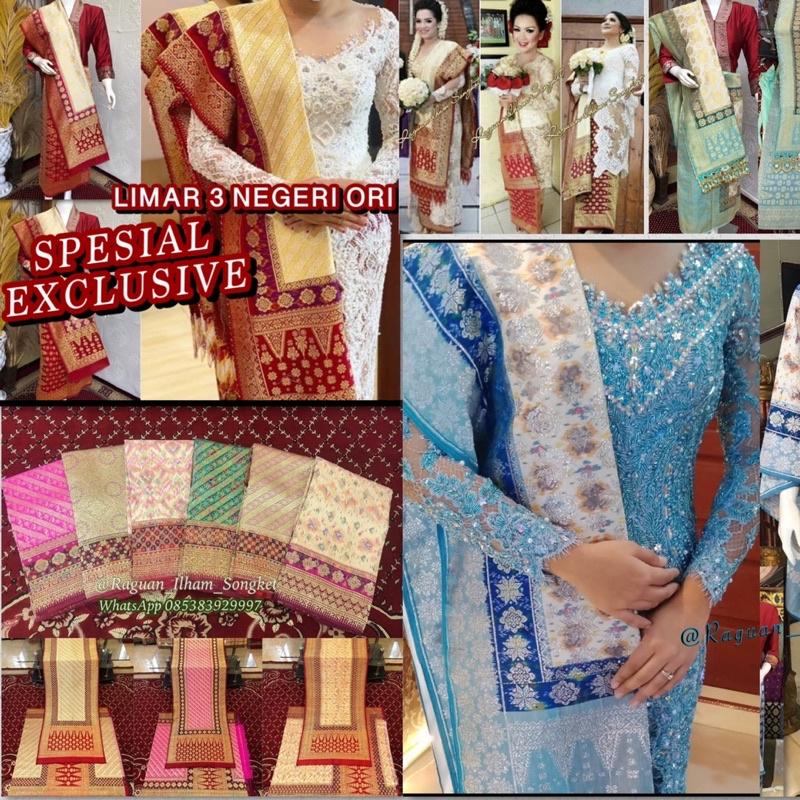 Best seller Lepus Limar 3 Negeri ORI / Songket tenun palembang asli tenun tangan ilham songket