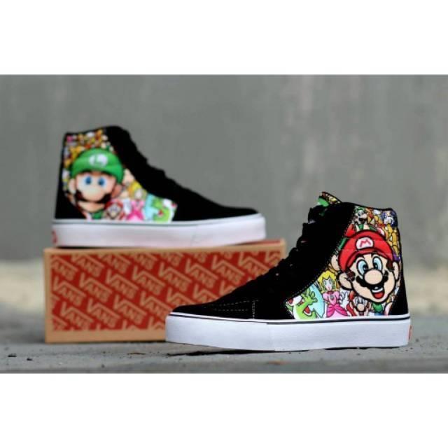 promo diskon sepatu sneakers trendy keren hits gaya vans sk8 nintendo mario  bros  5e428b424a