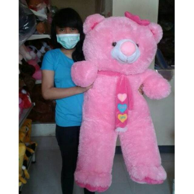 Souvenir boneka teddy bear jumbo XL 1 meter  cdfd60f899