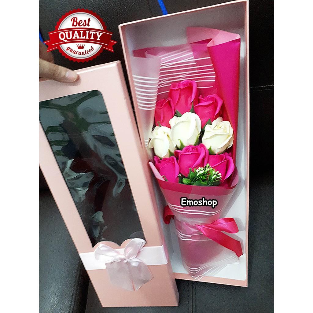 Bunga Mawar Sabun Buket Wisuda Kado Ultah Hari Ibu Buket Bunga Mawar Valentine Unik Shopee Indonesia