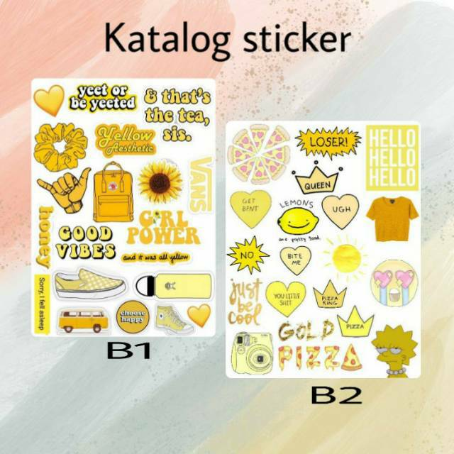 Sticker Tumblr Aesthetic For Hp Laptop Binder Shopee Indonesia