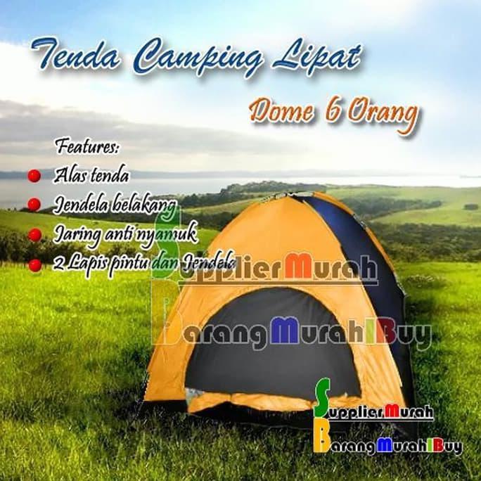 DIJAMIN READY TENDA DOME DOUBLE LAYER / TENDA CAMPING / TENDA KEMPING 3 - 4 ORANG | Shopee Indonesia