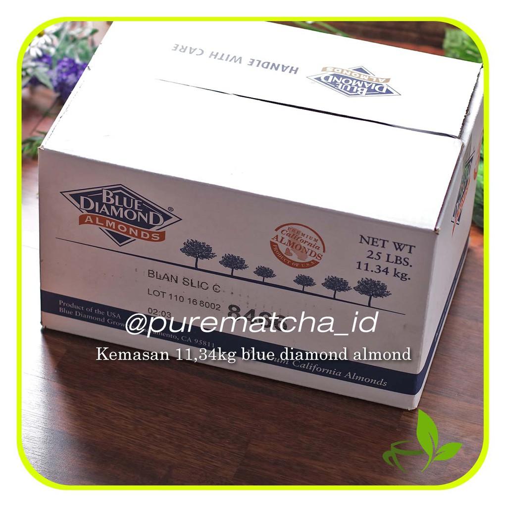 Whole Almonds Raw Natural Blue Diamond Kacang Almond Utuh Mentah 1 Kg 100gr Shopee Indonesia