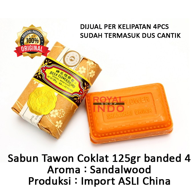 Sabun Tawon Bee Flower Brand Coklat Sandalwood 125gr Import China Rrc Shopee Indonesia