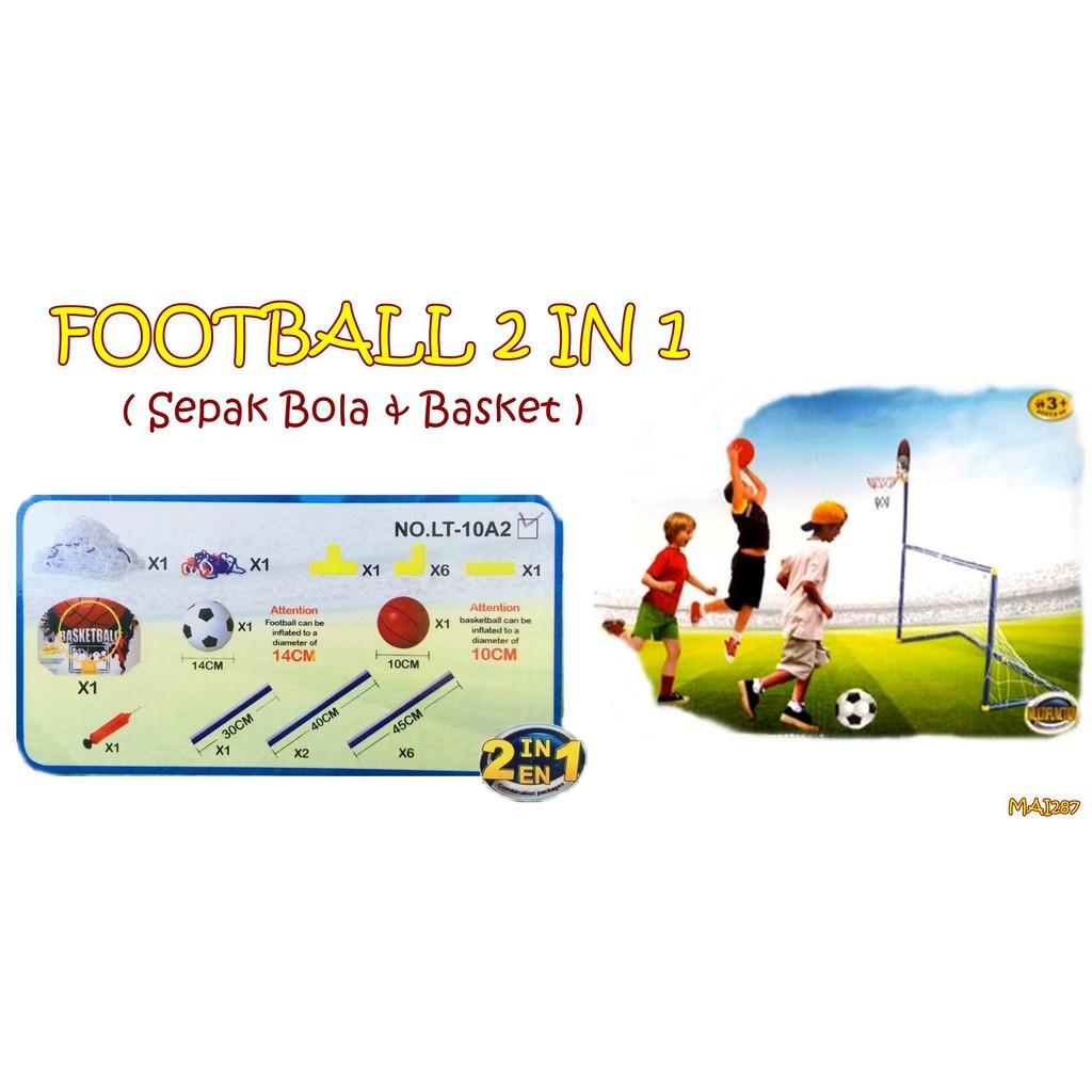 Football and Basketball Merge Set - Bola Basket Sepak Bola 2in1   Shopee Indonesia