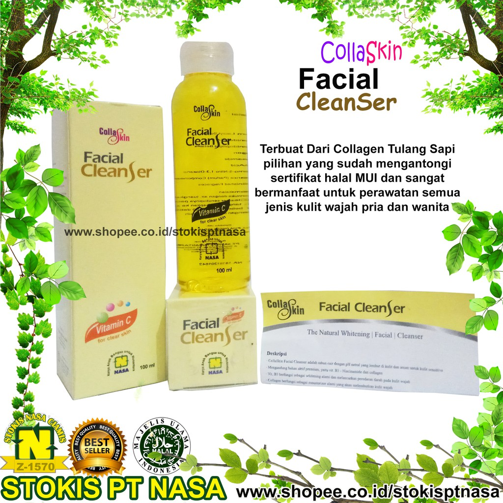 Up To 73 Discount From Brand Nasa Oryginal Collaskin Facial Cleanser Cofc