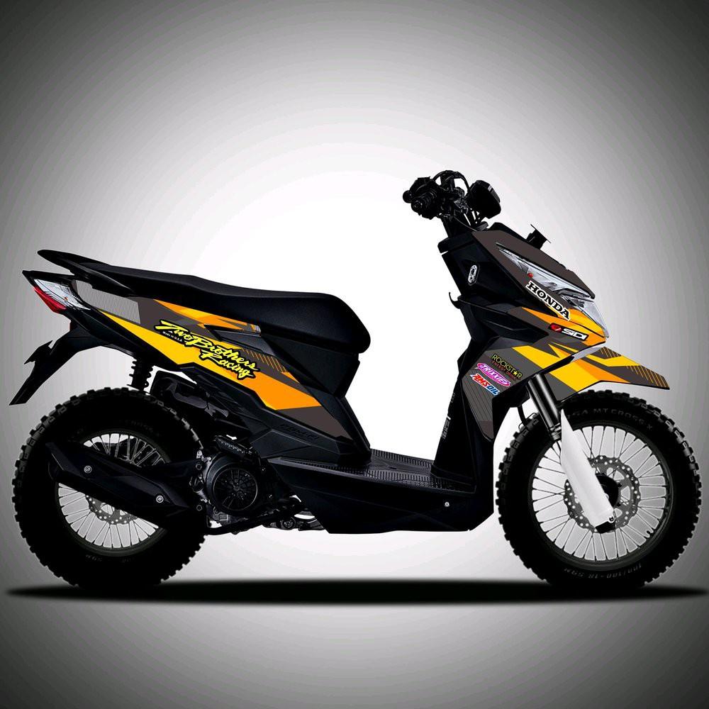 Promo striping decal beat street custom bukan crf nmax xmax ninja aerox pelindung motor diskon