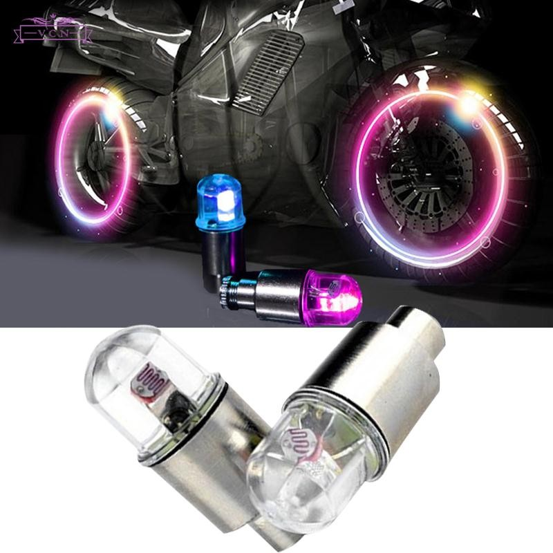 VCN 2PCS Multicolor LED Tyre Tire Valve Caps Bike Car Motorcycle Neon Light Lamp   Shopee Indonesia
