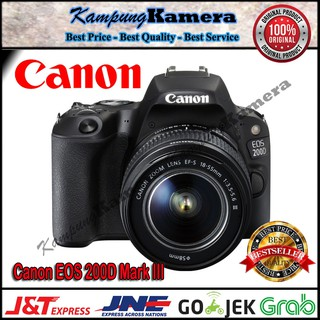 Canon EOS 200D II kit EF-S 18-55mm f/4-5 6 IS STM | Shopee Indonesia
