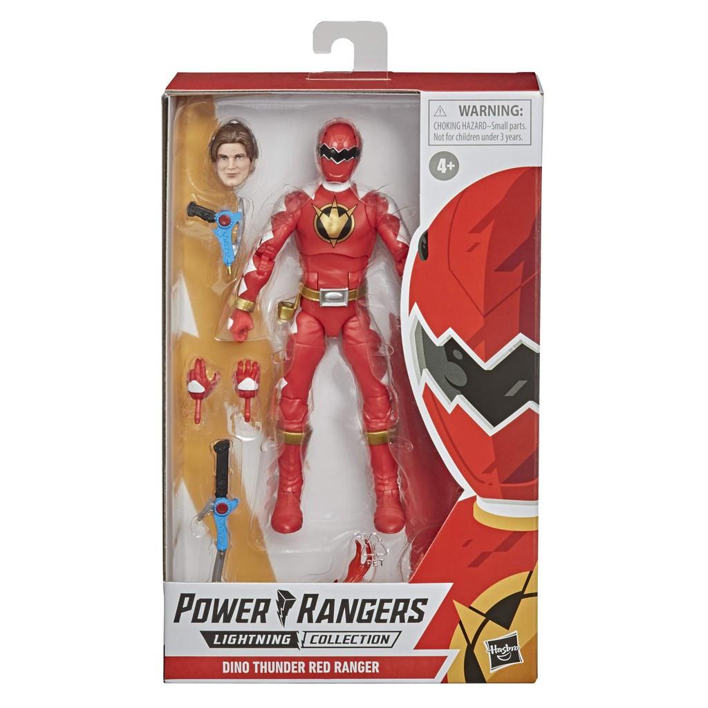 Mainan Power Rangers Lightning Collection Dino Thunder Red Ranger 6 Inch Shopee Indonesia