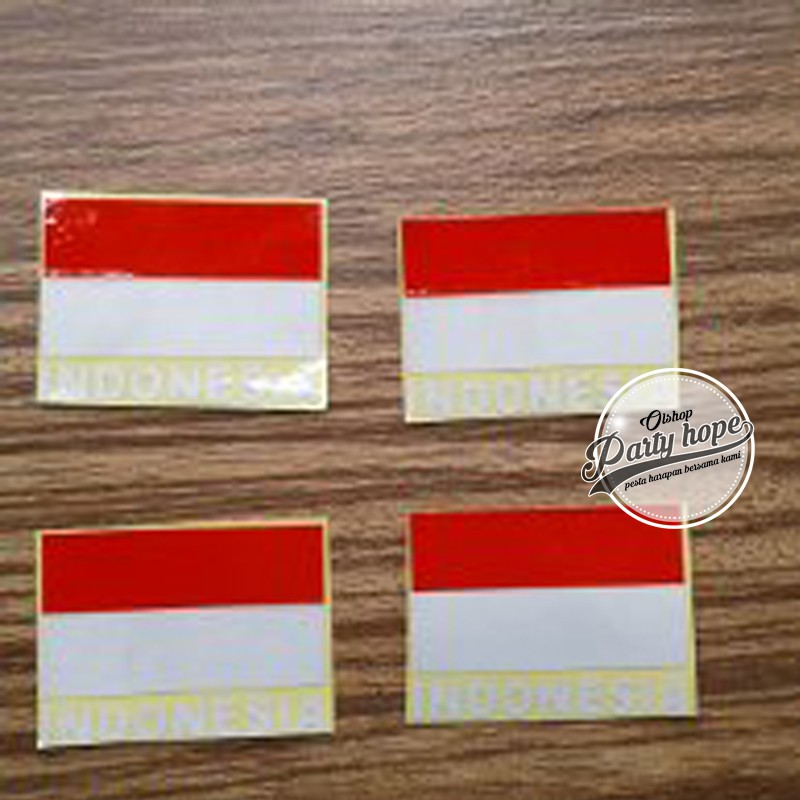 Stiker Pipi Merah Putih Sticker Pipi Bendera Indonesia Karnaval Shopee Indonesia