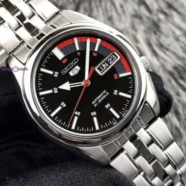 Jam Tangan SEIKO 5 ORIGINAL AUTOMATIC 21Jewels Dial Black
