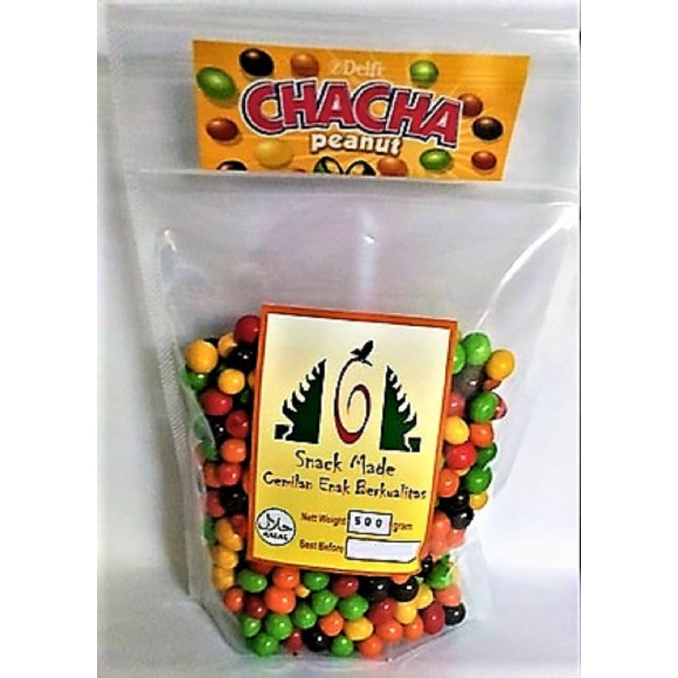 Delfi Chacha Milk Chocolate Peanut Kacang Kiloan 500 Gram Free Buble Warp Shopee Indonesia