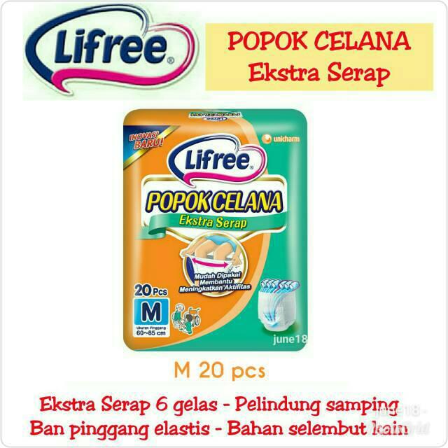 LIFREE Extra Ekstra Serap L16 L 16 XL12 XL 12 Popok Celana Dewasa Pant Pants Adult Diaper M20 M 20   Shopee Indonesia