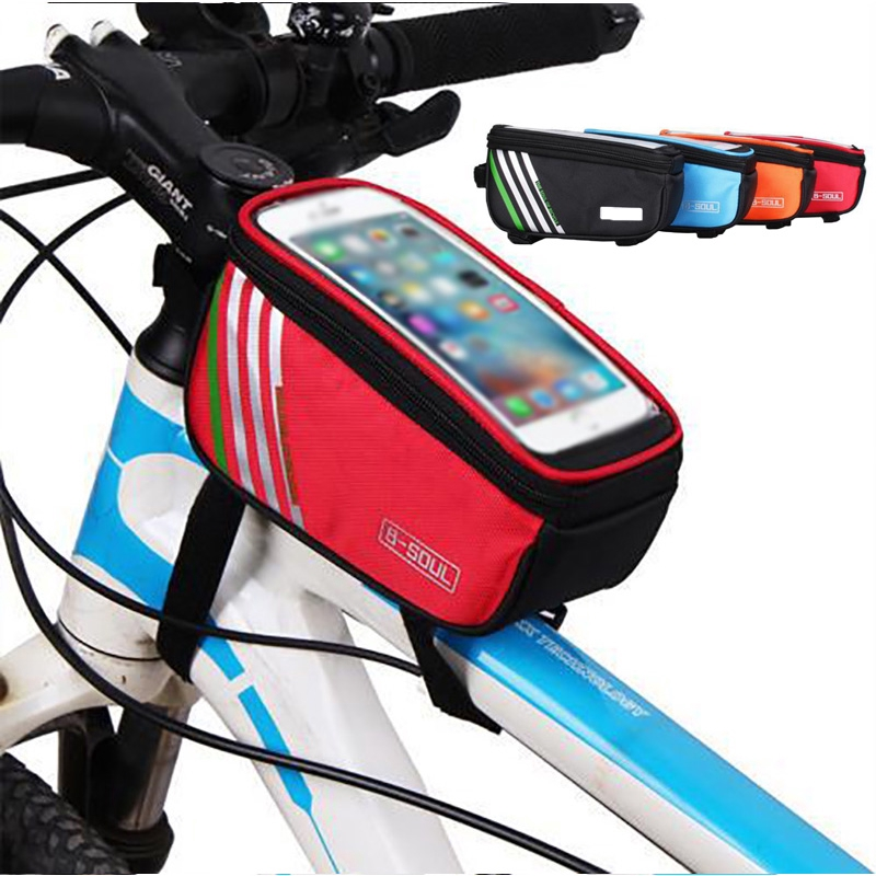 Sport Cycling Bike Bicycle Frame Pannier Front Tube Mobile Phone Bag Holder Case