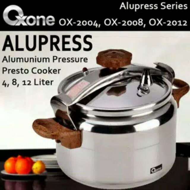 *(PROMO) Oxone Pressure Cooker Alupress 4 Liter OX-2004 .,.,.,.., | Shopee Indonesia