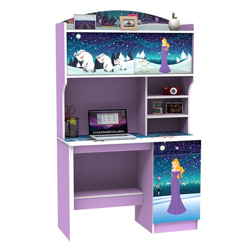 Super Meja Belajar Anak Karakter Frozen Ungu Sd 5603
