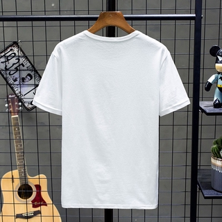 Summer short casual sleeve T-shirt loose fit solid