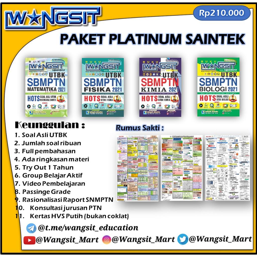 SAINTEK PLATINUM Paket Buku Wangsit Spoiler UTBK SBMPTN ...