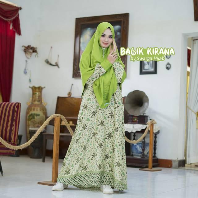 Gamis Batik Kirana By Swarga Hijab Shopee Indonesia