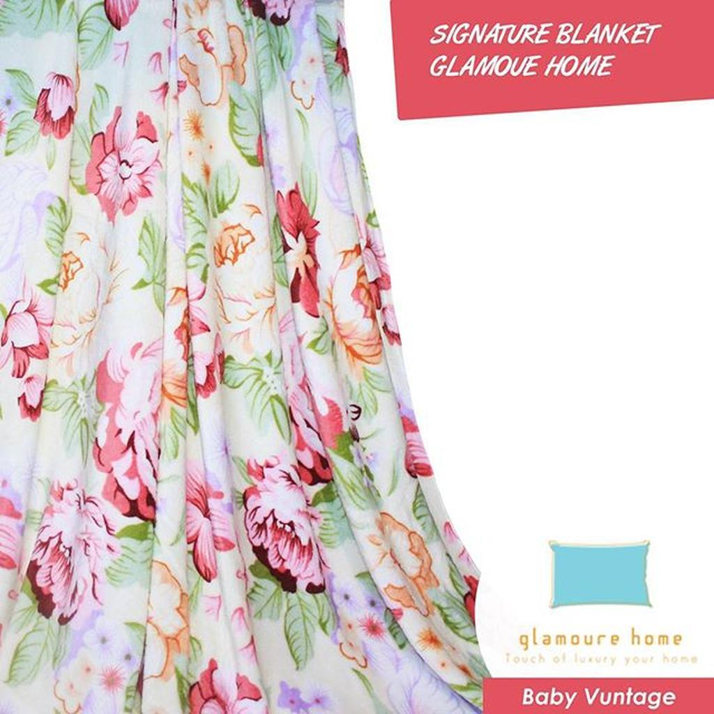 Selimut Signature 180x200 Glamoure Home Motif Square Orange Shopee Bulu Dewasa White Flower Indonesia