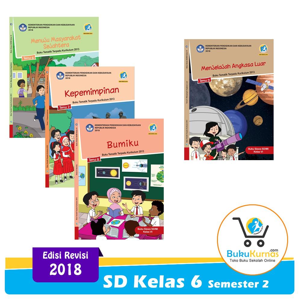 Paket Buku Tematik SD Kelas 6 Semester 2 K13 Revisi 2018 ...