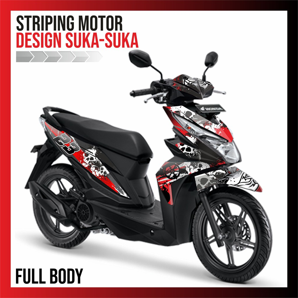 Sticker striping variasi thailand thailook vario cbs 110 click i shopee indonesia