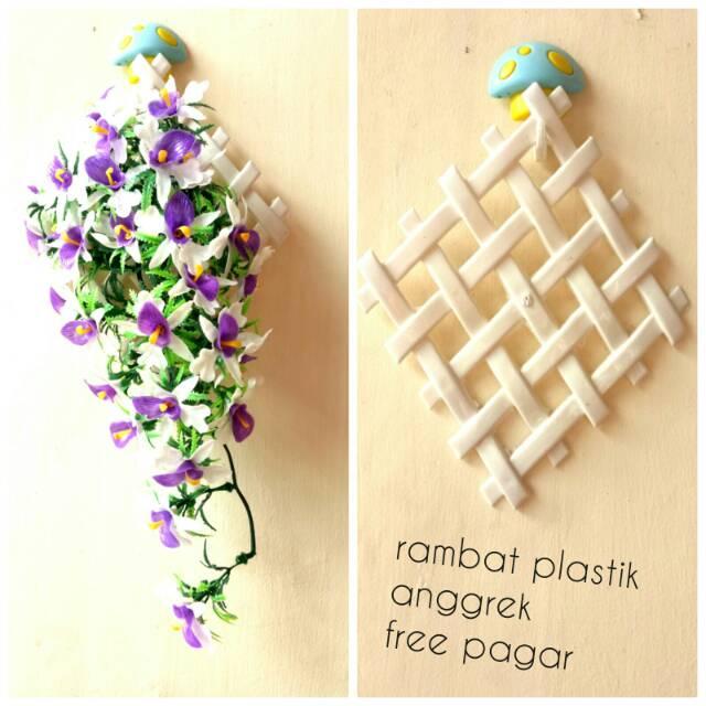 Bunga rambat plastik anggrek 32cm free pagar bunga rambat artificial ... 904364c084