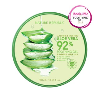 NATURE REPUBLIC Aloe Vera 92% Soothing Gel - 300ml