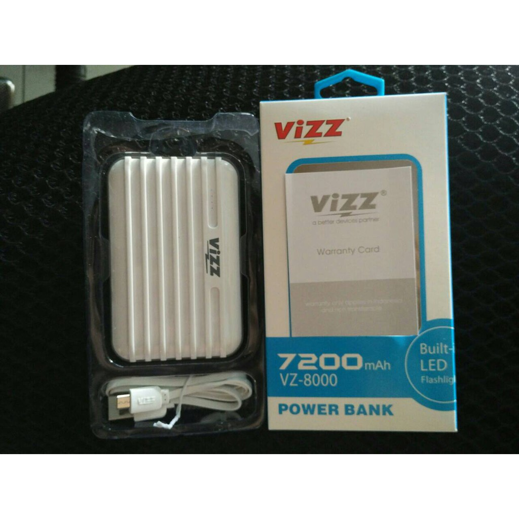 Vizz Power Bank Powerbank 6000 Mah Vz 60 Single Port Cable White Type Vz6000 Navi Rose Gold Dapatkan Harga Undefined Diskon Shopee Indonesia Source Bandingkan Pricelist Produk 7200 Vz8000 Dual
