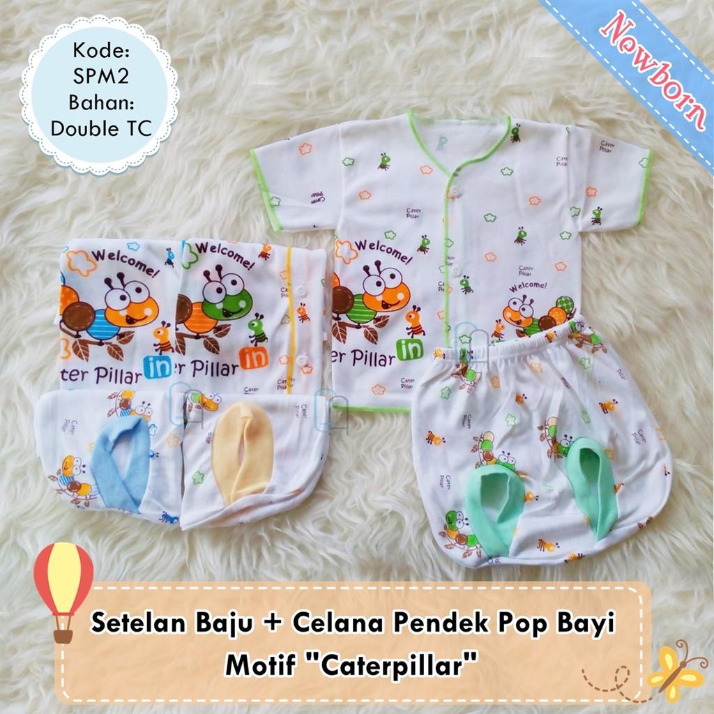3 Stel Setelan Baju Bayi Newborn Lengan Pendek Celana Pop Polos Panjang 3stel Diapers Berwarna Spw4 Shopee Indonesia