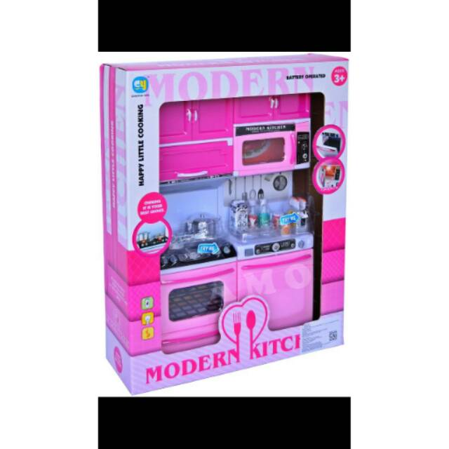 Mainan Anak Cewek Modern Kitchen Set Peralatan Masak Dapur Buat Boneka Barbie Miniatur Mirip Asli Shopee Indonesia