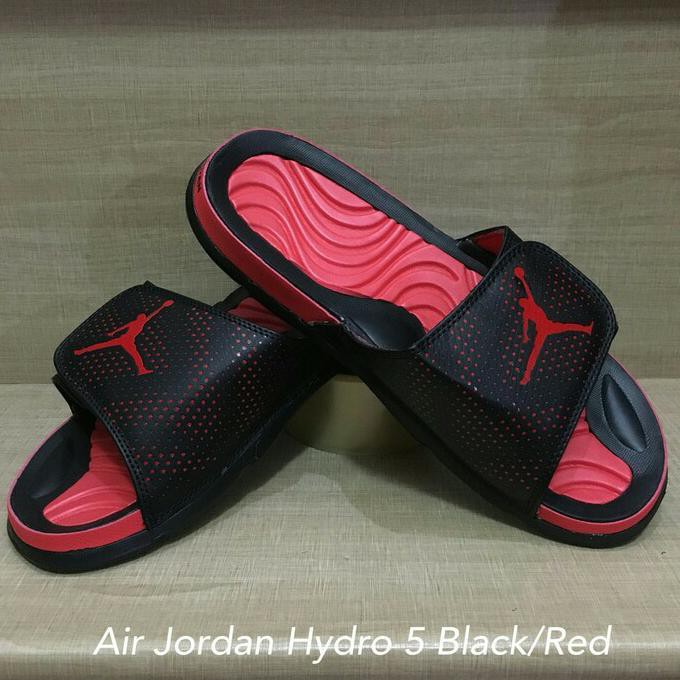 a7a5e2499f3232 PROMO SEPATU BASKET Sandal Selop Air Jordan Hydro 5 Red   White DISKON