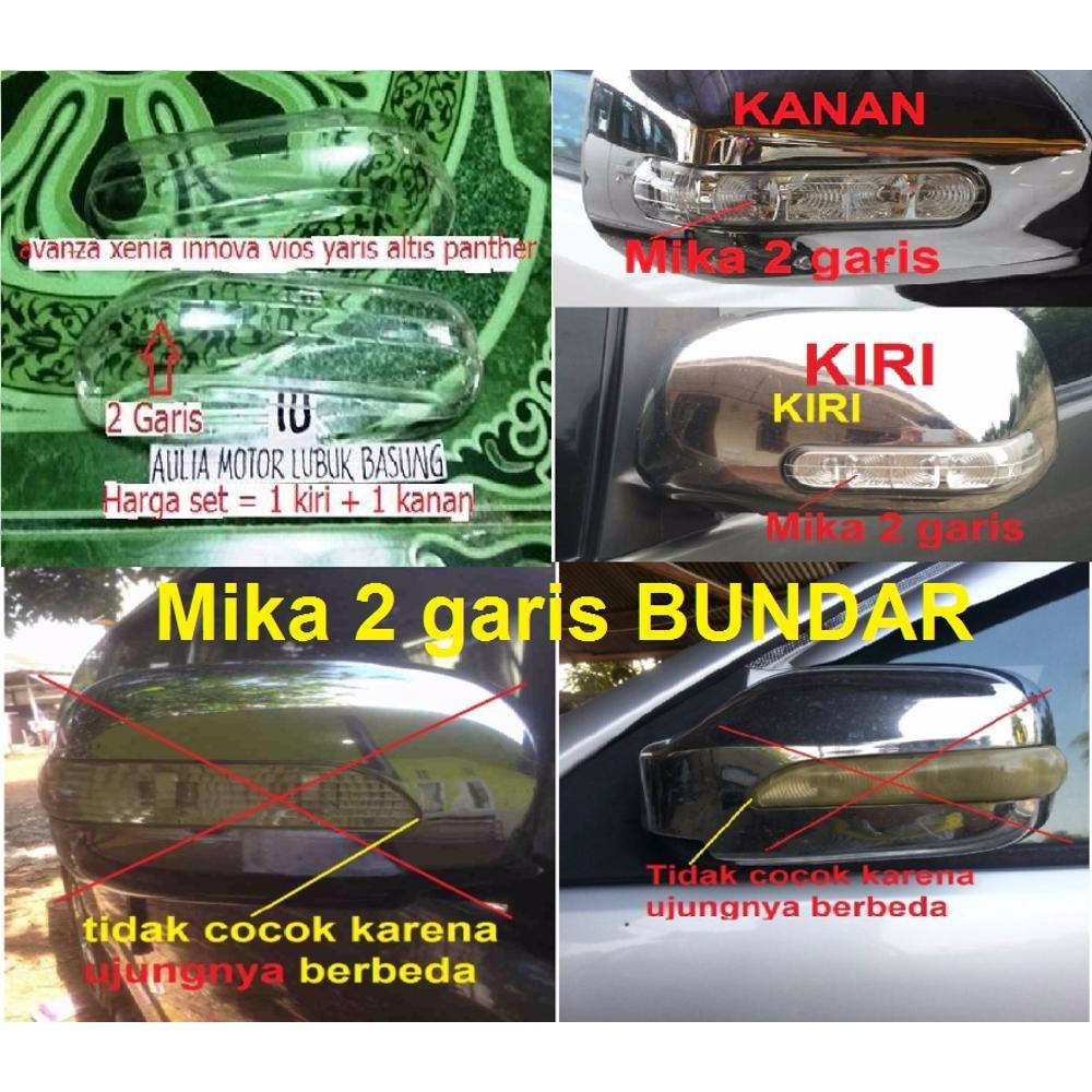 Mika Lampu Sein Sen Cover Spion Avanza Xenia Innova Vios Yaris Calya Kanan Panther Lama 3 Garis 1buah Shopee Indonesia