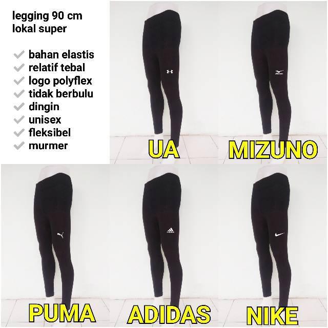 Legging 90cm Legging Panjang Dalaman Manset Celana Baselayer Futsal Sepakbola Voli Running Lokal Shopee Indonesia