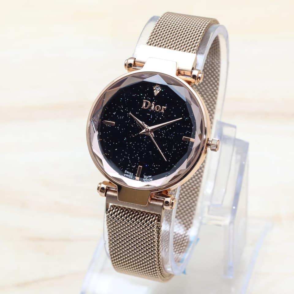 Jam tangan wanita DIOR MAGNET free baterai cadangan MODEL POLOS DAN TANGGAL  DR  51c08f3831