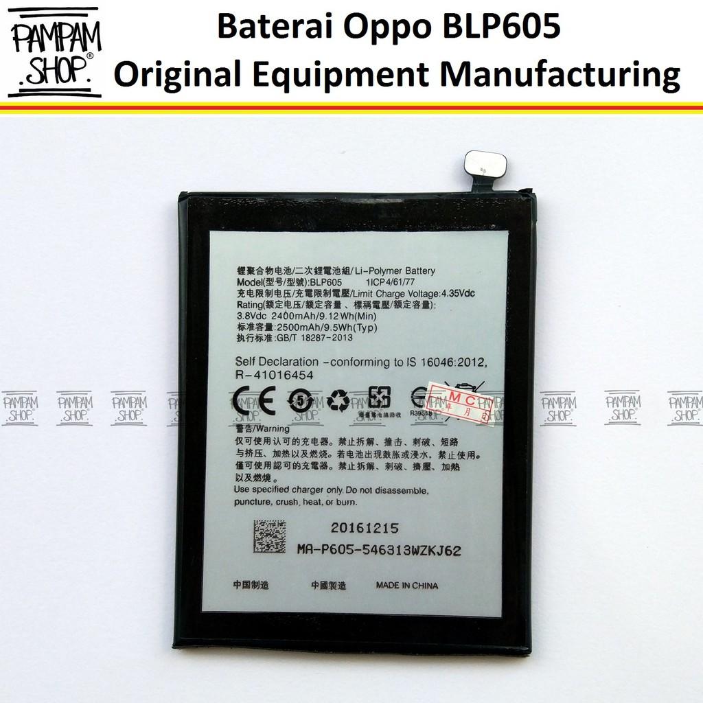 Baterai Handphone Oppo BLP605 Neo 7 A33 F1 Original OEM Batre Batrai  Battery BLP 605 F1 A 33