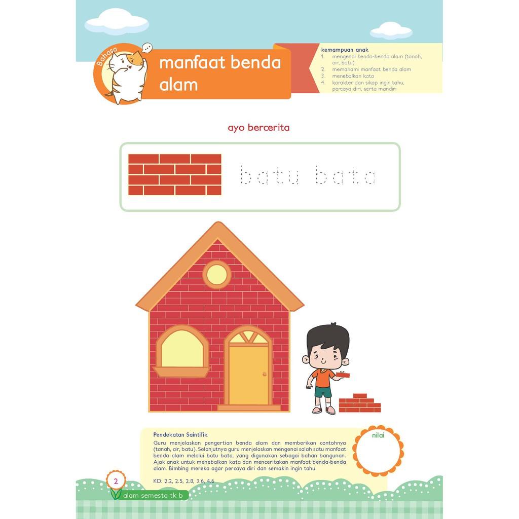 Buku Paud Tk Tematik K13 Kelompok B Tema Alam Semesta Shopee Indonesia