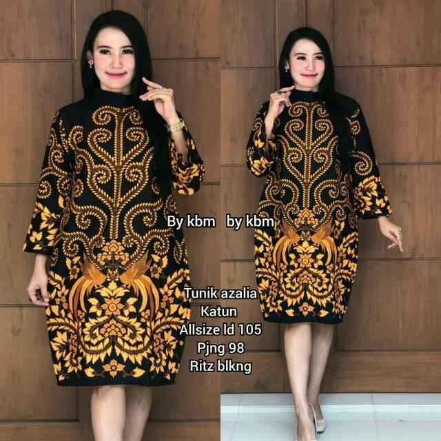 Model Dress Batik Kerja 2019 Baju Batik Kerja Bordir Shopee Indonesia